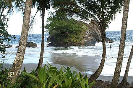 laspor beach on trinidad north coast along the trail to paria bay